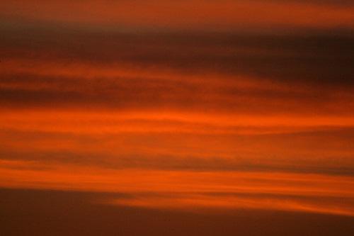 Orange clouds after sunset