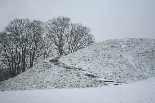 Snow-covered Castle Mound