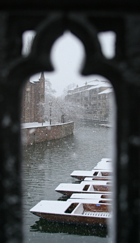 Quayside Punts in the snow
