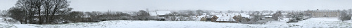 Cambridge Snow Panorama