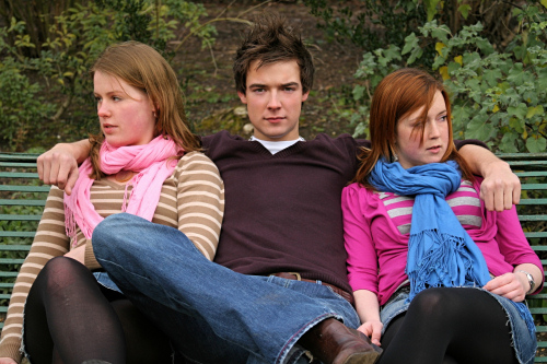 Lizzie, Ben & Steph: looking moody