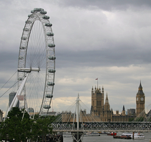 London Eye, Parliament, and Big Ben