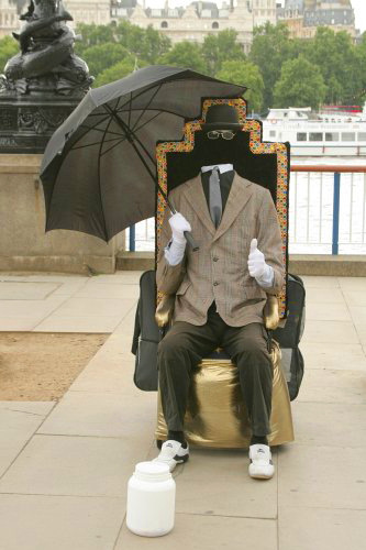 The Invisible Man - Street Performer