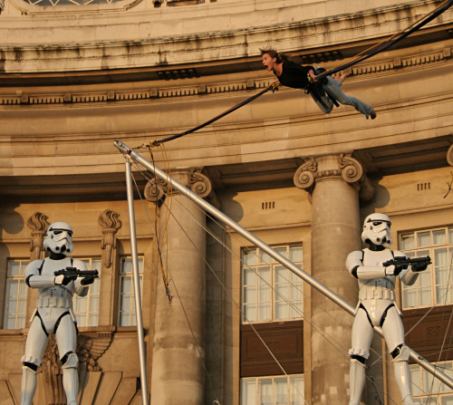 Bungee bouncing and Stormtroopers