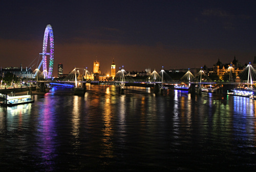 London Eye, Parliament, Big Ben at night