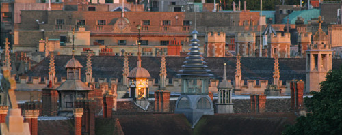 Cambridge Rooftops at Sunset