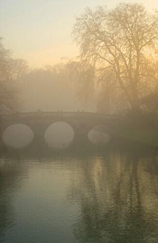 Clare Bridge at dusk