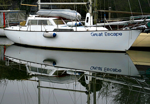 Boat named Great Escape