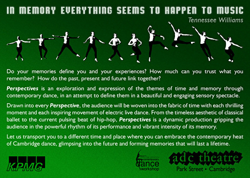 Perspectives - ADC CUCDW Dance Show Flyer Back