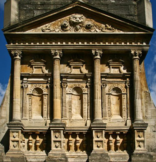 Detail above the Gate of Honour, Caius College