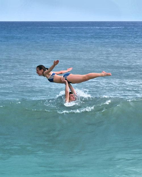 Dirty Dancing in the sea