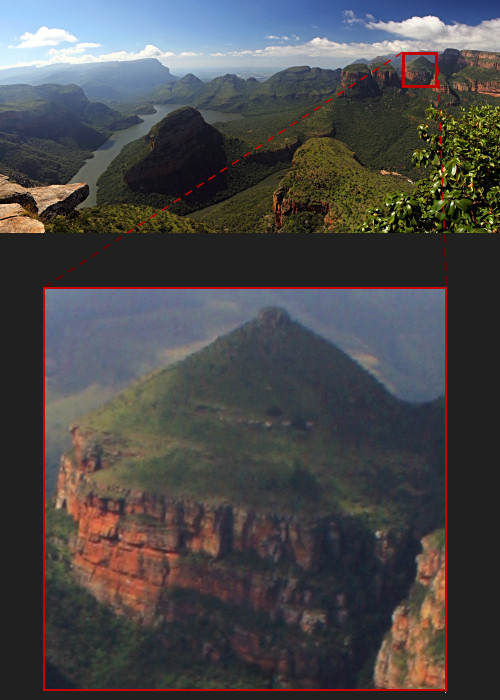 Panoramic photo of Blyde River Canyon