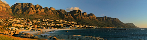 Camps Bay in golden light