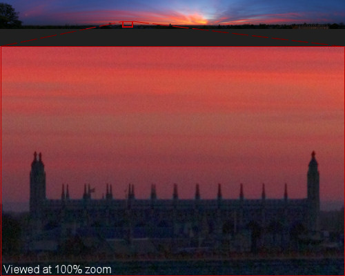 Cambridge Sunset Panorama