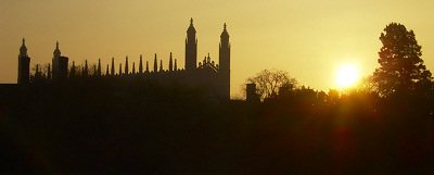 King's College Chapel Silhouette