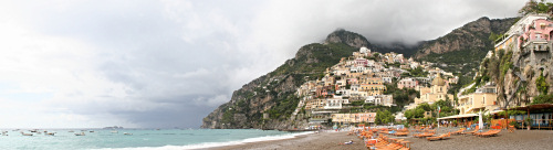 Panoramic Photo from Positano beach