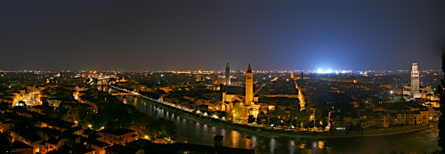 Panoramic Photo of Verona at night