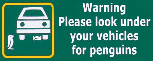 Penguin Warning Sign