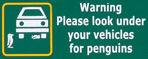 Penguin Warning Sign