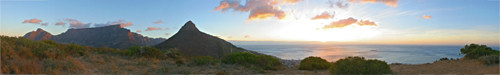 Panoramic Sunset from Signal Hill