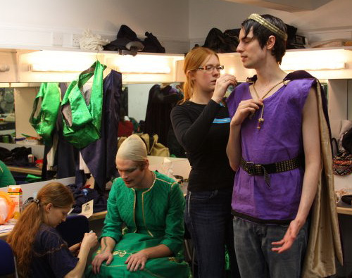 Costume & Make-Up in the dressing room