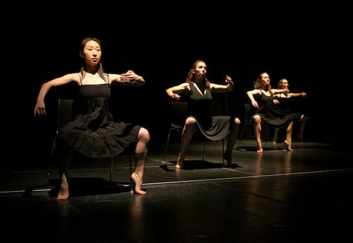 Dancers on chairs