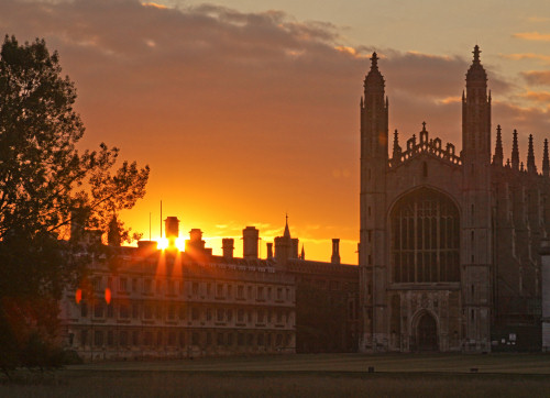 Sunrise over King's Chapel, Cambridge
