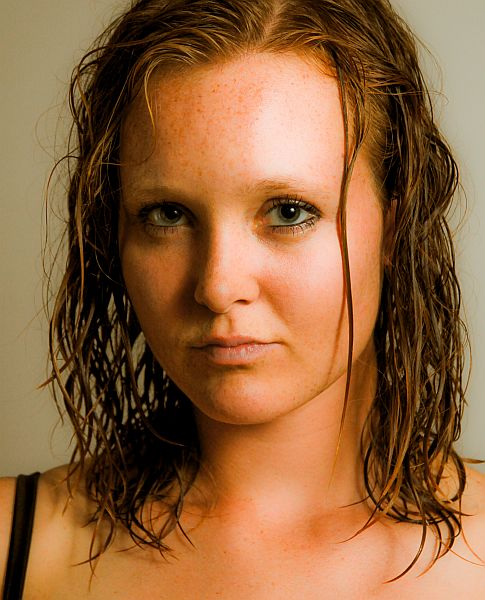Erica with wet hair