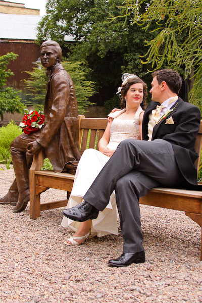Bride and Groom by Charles Darwin Statue