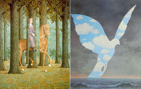 Magritte Inspiration - The Blank Check, The Large Family