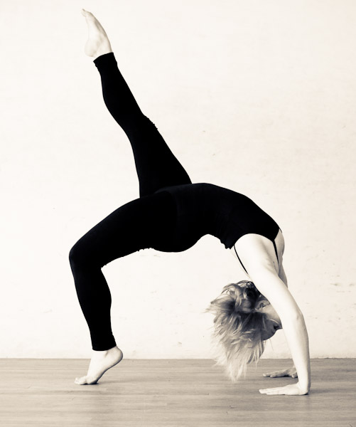 Dancer in back bridge