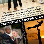 Cambridge Dancers&#8217; Club Flyer
