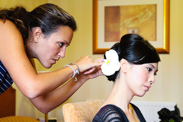 Bride's Hair and Make-Up Preparations