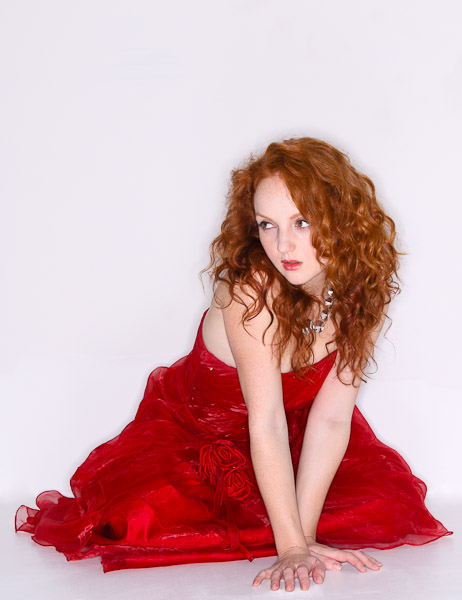 Ivory Flame - Redhead in Red Dress