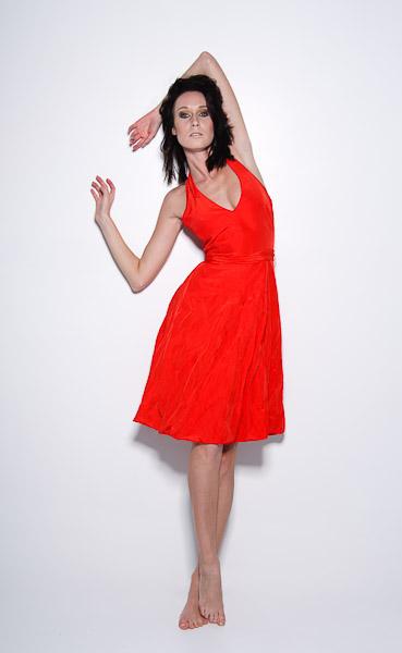 Iveta Niklova - Fashion Red Dress