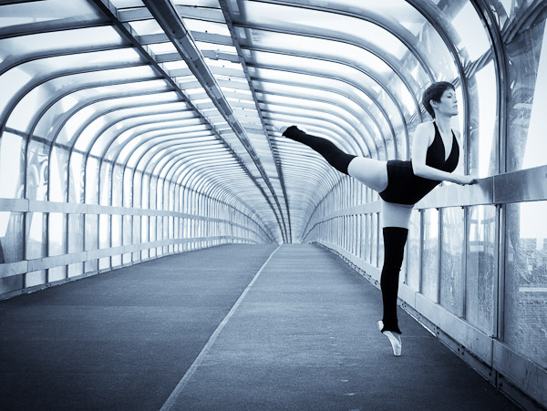 Ballerina in Tunnel