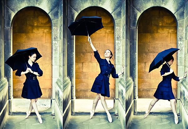 Ballerina with Umbrella