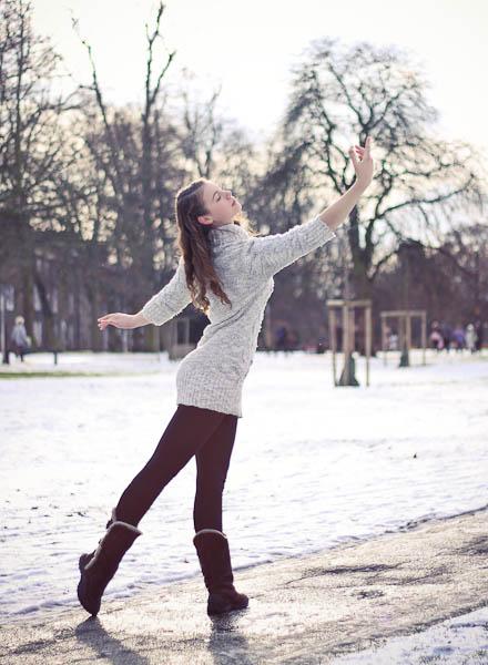 Ballerina in the snow
