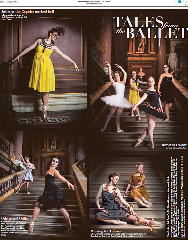 Ballet Fashion - Varsity Tearsheet