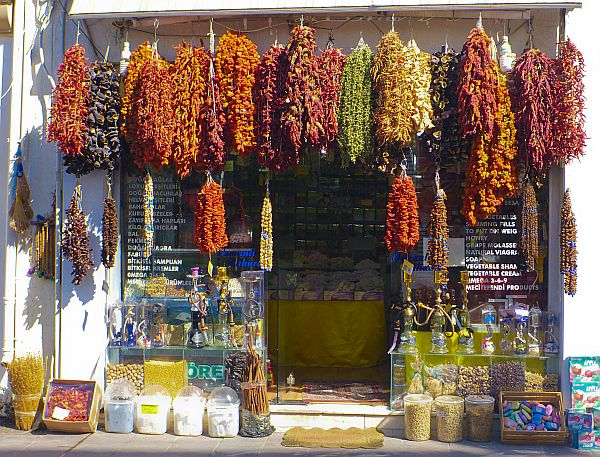 An Aladdin's cave of spices, dried produce, and plenty more inside.