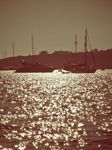 Yachts outside Bodrum Marina...